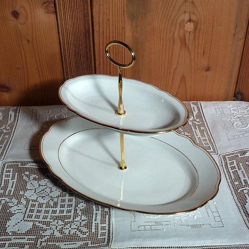 2er ovale Platten m. Goldrand Nr. 29