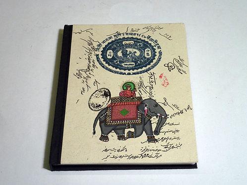 Notizbuch Stoff Elefant Raja medium