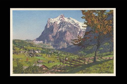 Karte A 5031 Grindelwald m. Wetterhorn