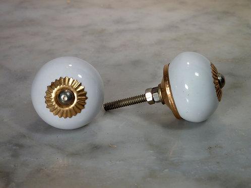 Round White Golden SCRK-16