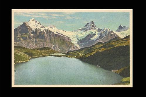 Karte A 4630 Grindelwald, Bachsee - Wetterhorn - Schreckhorn - Finsterarhorn