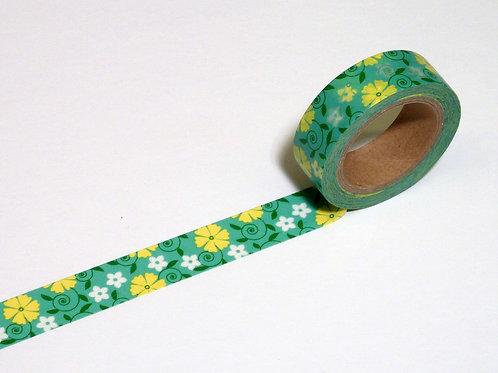 Blumenband grün WT-#8322