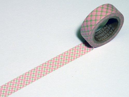 Karo pink m. hellgrün WT-#8076