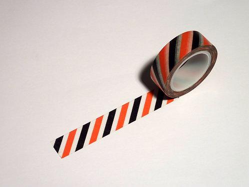 Stripes schräg schwarz/weiss/rot WT-#339