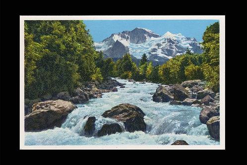 Karte A 5547 Weisse Lütschine + Jungfrau