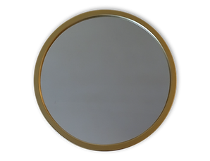 espejo liso  circular marco dorado_Mesa