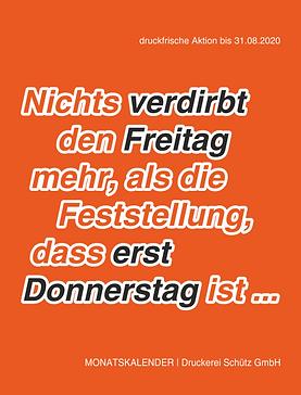 Kalenderaktion -2% Preisrabatt Druckerei Schütz Kamenz