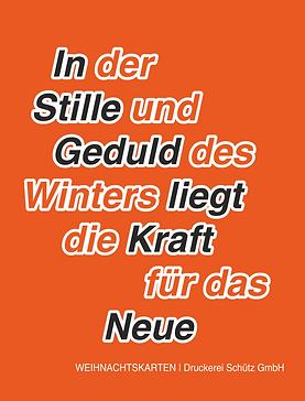 Weihnachtskarten Druckerei Schütz Kamenz drucken