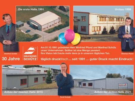 30 Jahre Druckerei Schütz GmbH in Kamenz