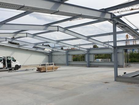 Erweiterung der neuen Produktionsstätte - Druckerei Schütz GmbH