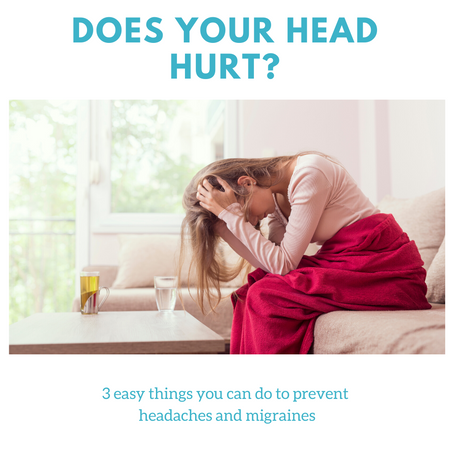 3 things you can do on your own to help prevent and relieve your headaches.