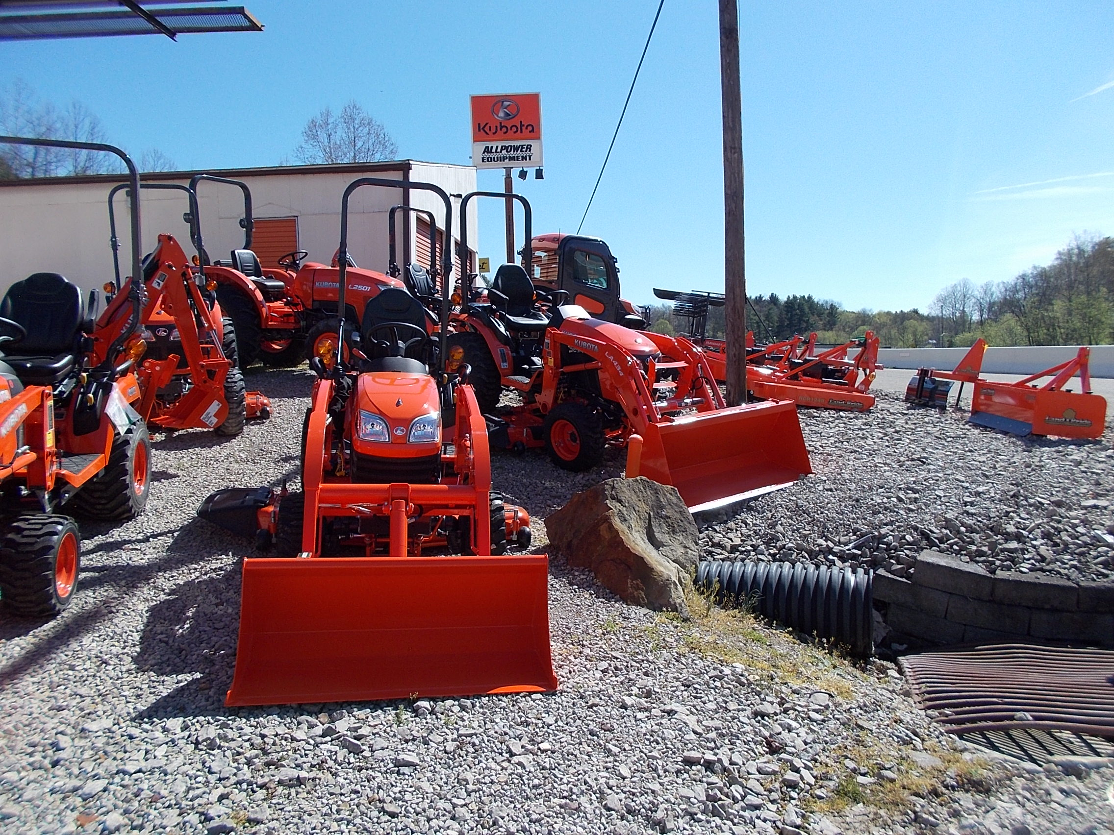 We offer a vast selection of Kubota products.