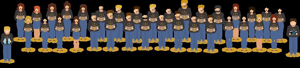 membres de la chorale