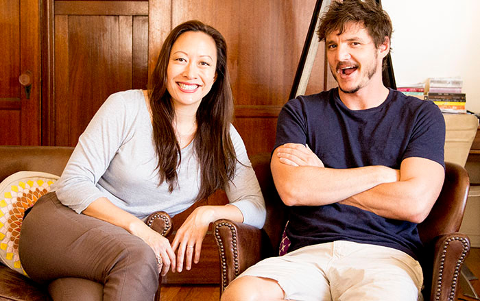 Grace Rowe and Pedro Pascal