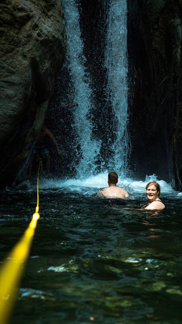 Pavon - Swimming to the waterfall.jpg