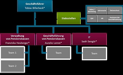 Organigramm Allvisa Services 2020