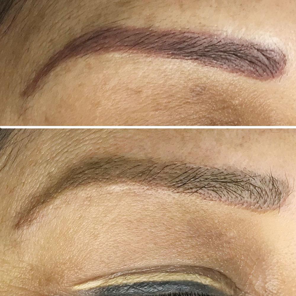 Corrección de color de cejas