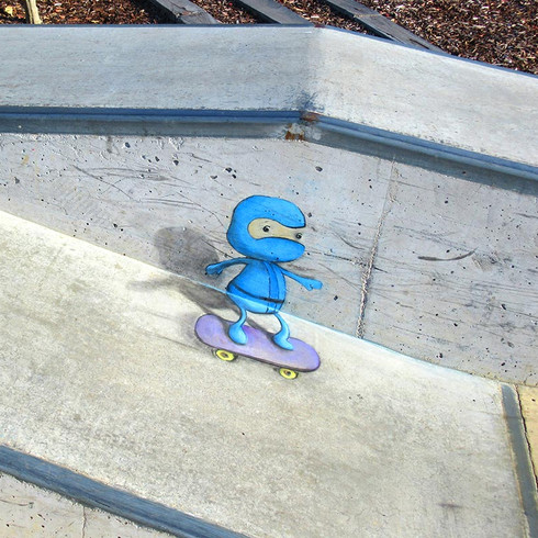 Skateboarding Ninja