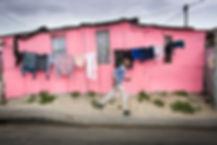 Man walking in township