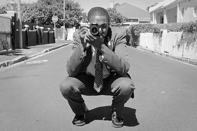 Boy photographing for Ibali