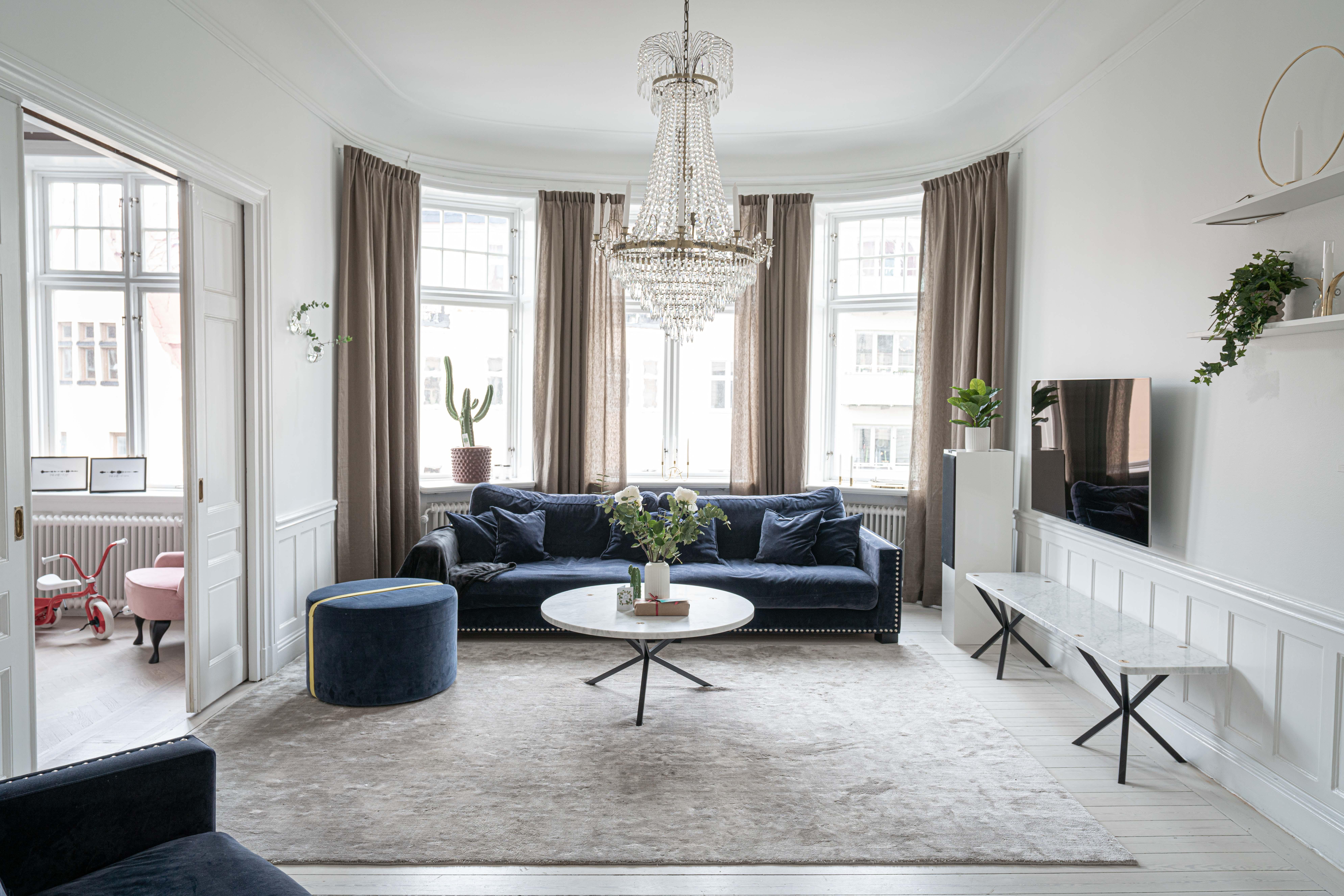 Fantastiskt vardagsrum på Södermalm
