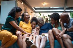 Black multigen family