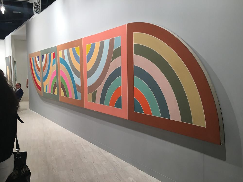 Frank Stella's Damascus Gate, Stretch Variation II, Half Size, 1969. Edward Tyler Nahem Gallery