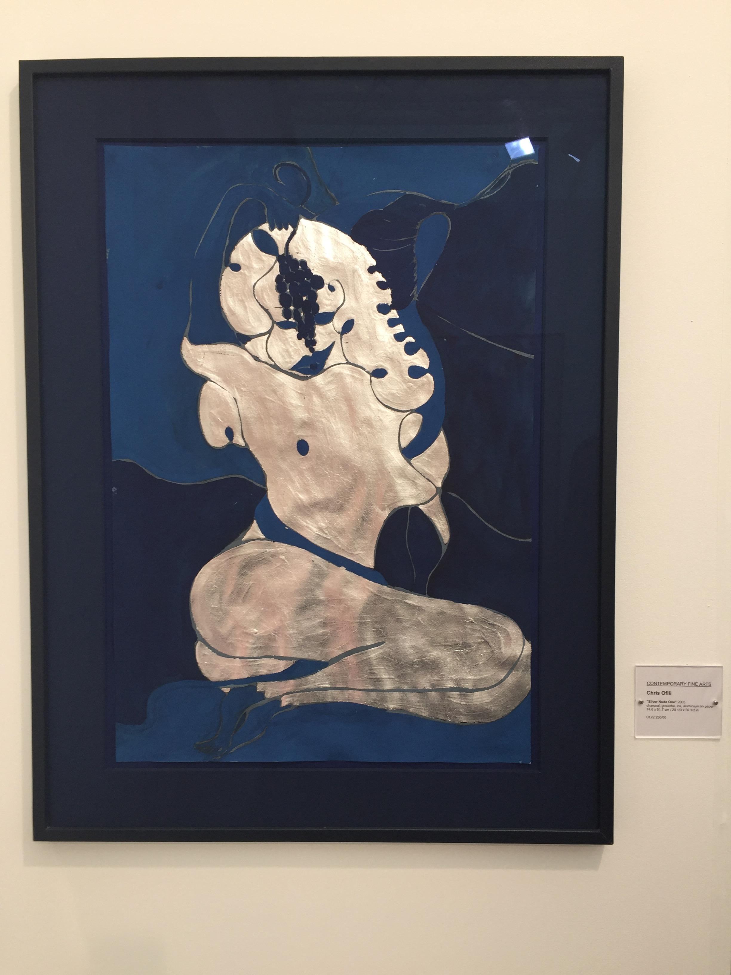 Chris Ofili's Silver Nude One, 2005