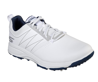 Skechers Zapatos GoGolf Contra Agua Gris con Vivos Azules