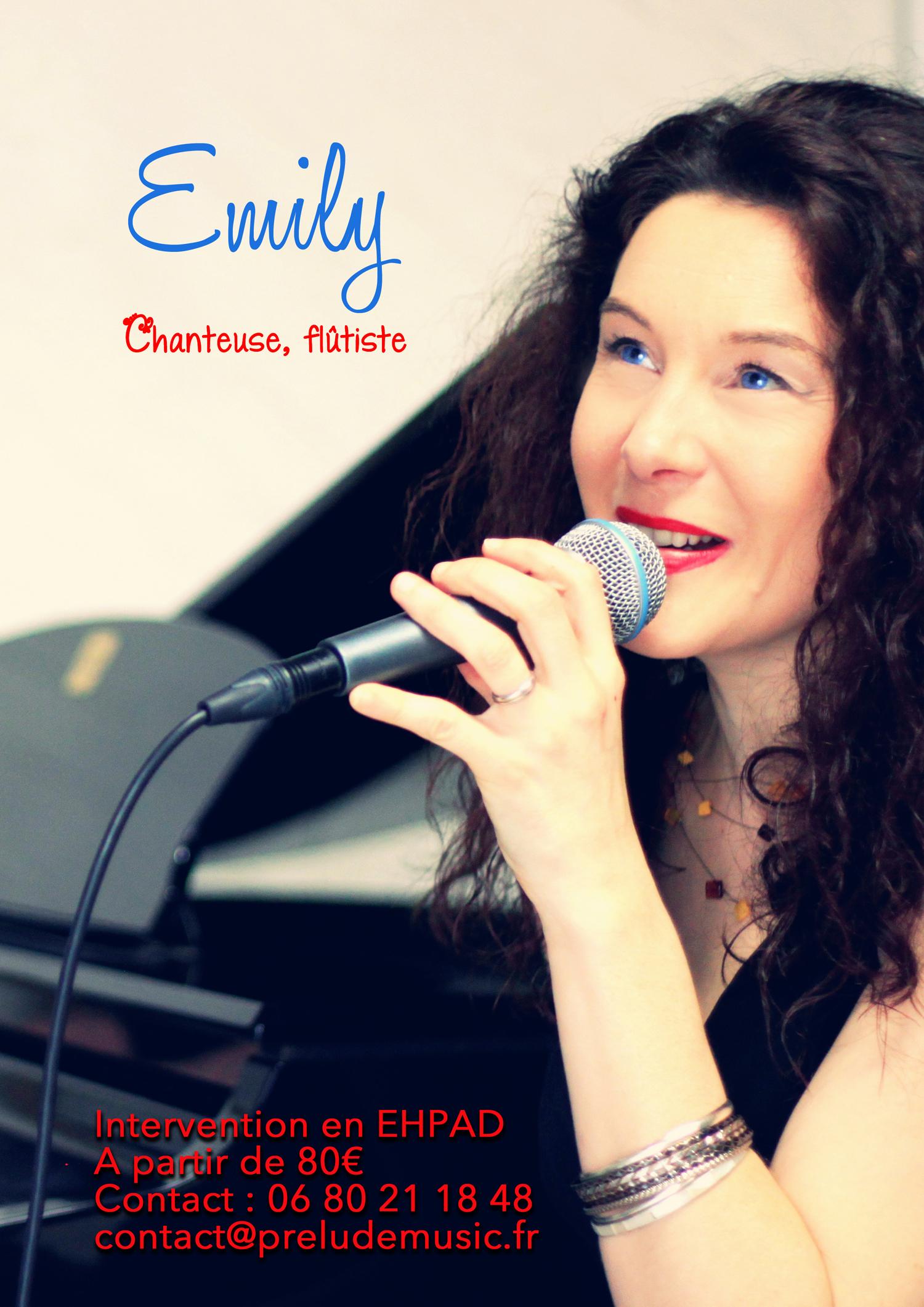 Emily chante pour les sénior