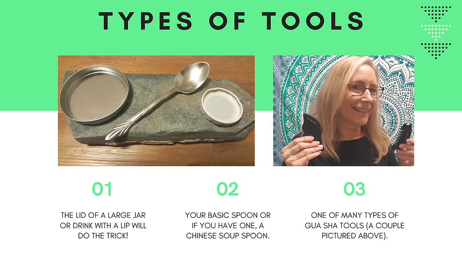 Type of tools to use for Gua Sha