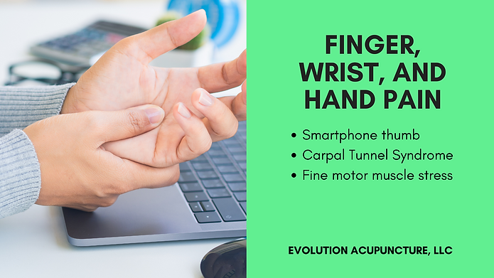 Finger, wrist and hand pain