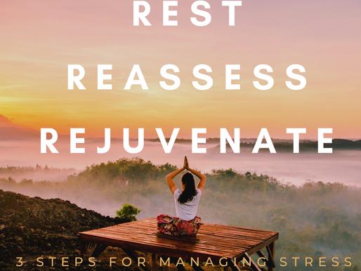 3 STEPS FOR MANAGING STRESS