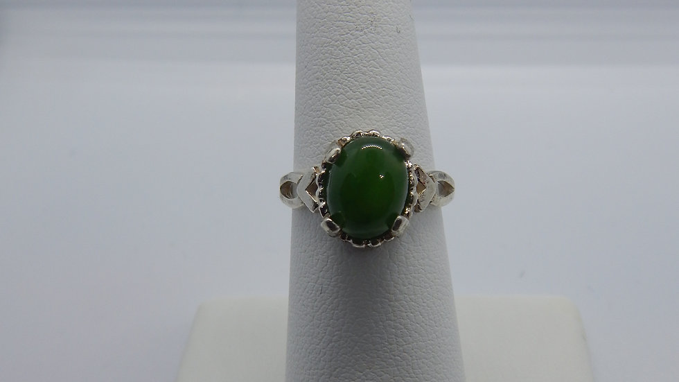 Women's Jade & Sterling Silver Ring