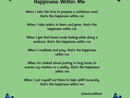 Happiness Within Me
