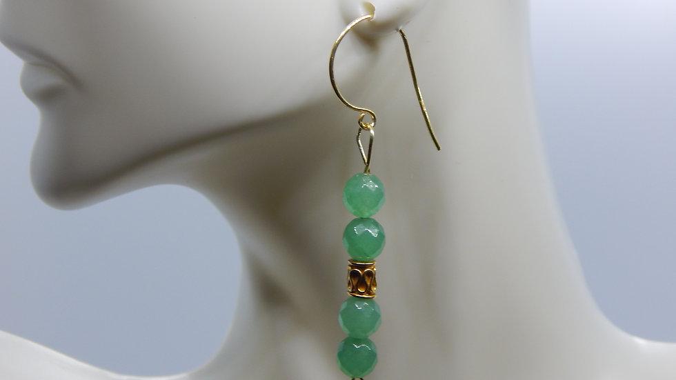 Green Aventurine & Gold Vermeil Earrings
