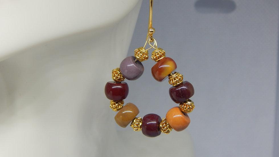 Mookaite & Gold Vermeil Earrings