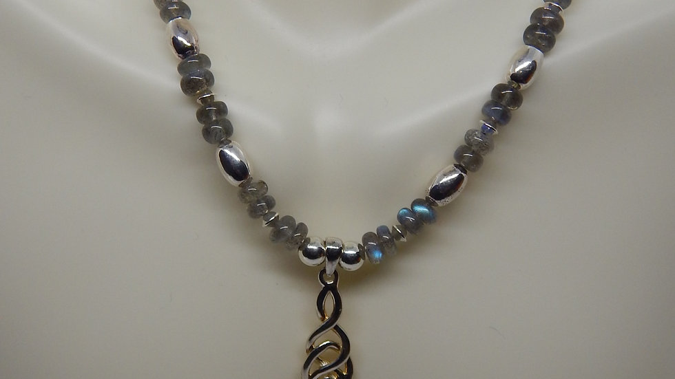 Labradorite and Sterling Silver Choker