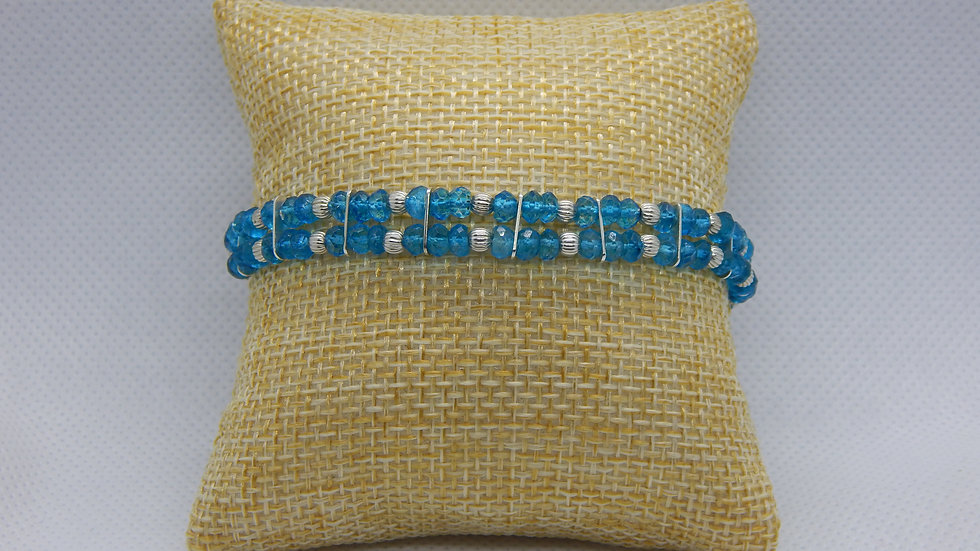 Blue Topaz and Sterling Silver Bracelet