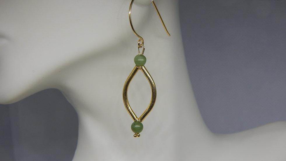 Gold Vermeil & Jade Earrings