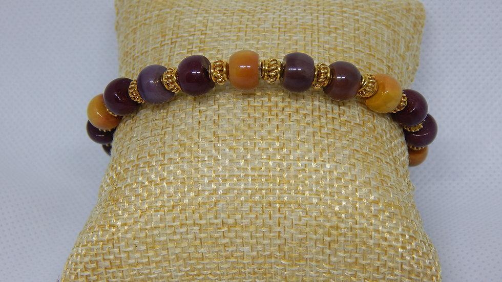 Mookaite & Gold Vermeil Wrap Bracelet