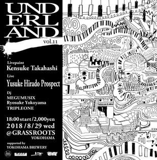 【KensukeTakahashi】LivePainting at Grassroots yokohama《UNDERLAND vol.11》