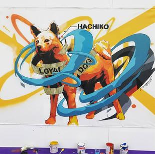 "【DRAGON76】LivePaint at 渋谷駅広場""ハチ公サミット"" (2017.10.14)"