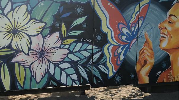 """【KensukeTakahashi】【LuiseOno】【AyakaNishitani】 Mural / Beach House """"Kamakura Yokocho(yuigahama be"""