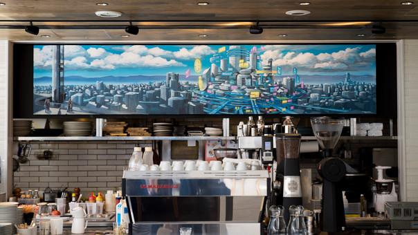 "【KensukeTakahashi】illustration  [""me's CAFE & KITCHEN"" at METoA Ginza in TokyuPlaz"