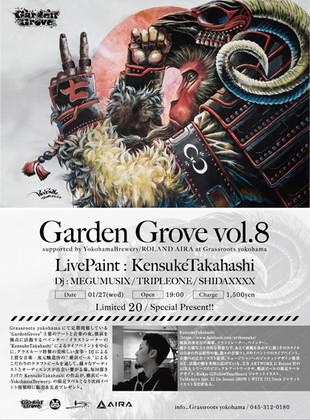 【KensukeTakahashi】LivePaint at GRASSROOTS yokohama 《GardenGrove vol.8》