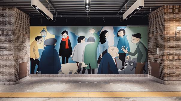 【Yusuke Hanai】ecute EDITION yokohama ART WALL