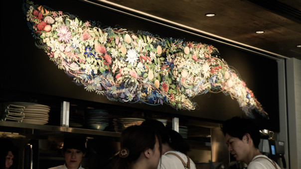 【KensukeTakahashi】Me's CAFE & KITCHEN at METoA Ginza Mural