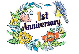 【LuiseOno】ららぽーと湘南平塚 様 「1st Anniversary」ロゴイラストを提供させていただきました
