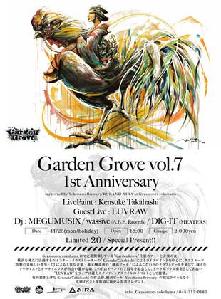 【KensukeTakahashi】LivePaint at GRASSROOTS yokohama《GardebGrove vol.7》